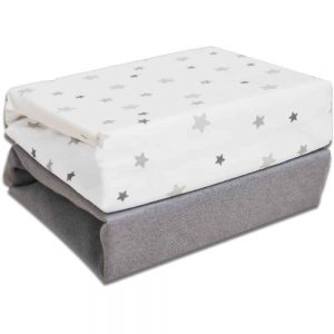 Moses Basket Fitted Sheets 2 Pack