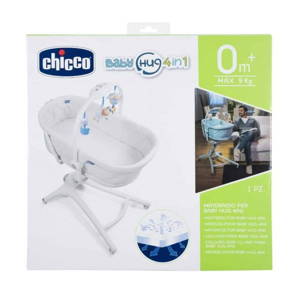 Moses Baskets & Stands Chicco 4in1 Hug Air Titanium Bundle Pitter Patter Baby NI 11