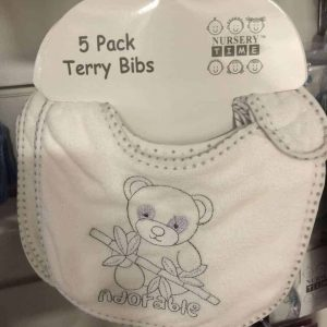 Nursery Time 5pk Terry Bibs