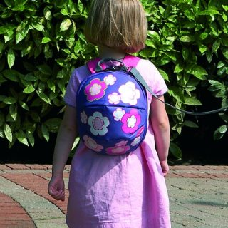 Harness & Reins Toddler Daysack – Flowers – with lead Rein Pitter Patter Baby NI 4