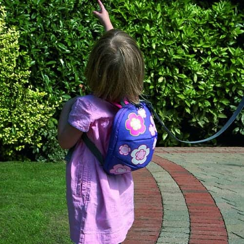 Harness & Reins Toddler Daysack – Flowers – with lead Rein Pitter Patter Baby NI 7