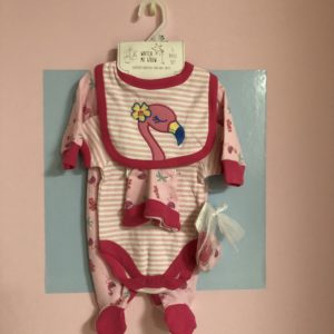 Watch Me Grow Pink Flamingo 5pc set