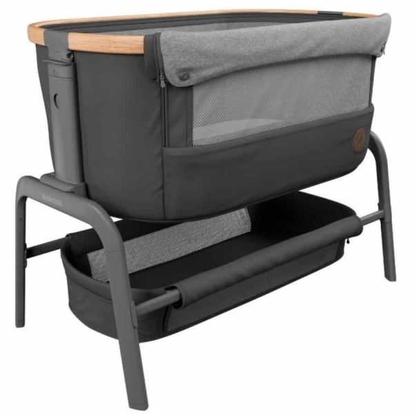 Cribs & Next2Me Cribs Maxi-Cosi Iora Bedside Crib – Essential Graphite Pitter Patter Baby NI 5