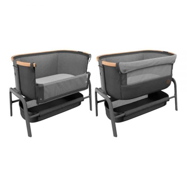 Cribs & Next2Me Cribs Maxi-Cosi Iora Bedside Crib – Essential Graphite Pitter Patter Baby NI 9