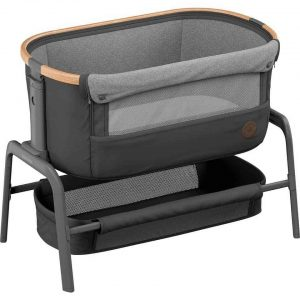 Cribs & Next2Me Cribs Maxi-Cosi Iora Bedside Crib – Essential Graphite Pitter Patter Baby NI