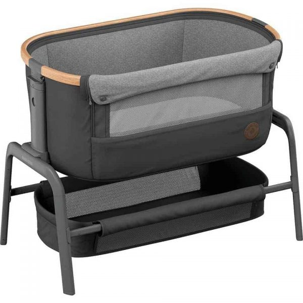 Cribs & Next2Me Cribs Maxi-Cosi Iora Bedside Crib – Essential Graphite Pitter Patter Baby NI 4