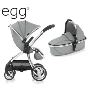 Egg Platinum Stroller, carrycot, changing bag