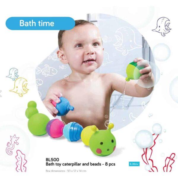 Bath Toys & Supports Lalaboom Bath Caterpillar Pitter Patter Baby NI 6