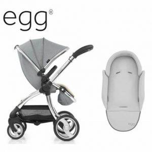 Egg Stroller Platinum with newborn insert & changing bag & carseat