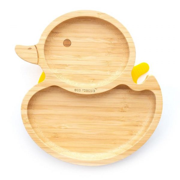 Dinner sets Bamboo suction duck plate Pitter Patter Baby NI 3