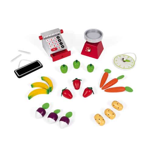 Toys GREEN MARKET GROCERY (WOOD) Pitter Patter Baby NI 5