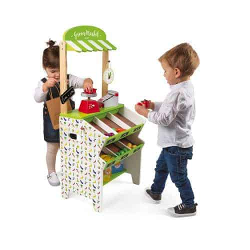 Toys GREEN MARKET GROCERY (WOOD) Pitter Patter Baby NI 4