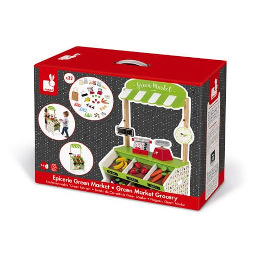 Toys GREEN MARKET GROCERY (WOOD) Pitter Patter Baby NI 10