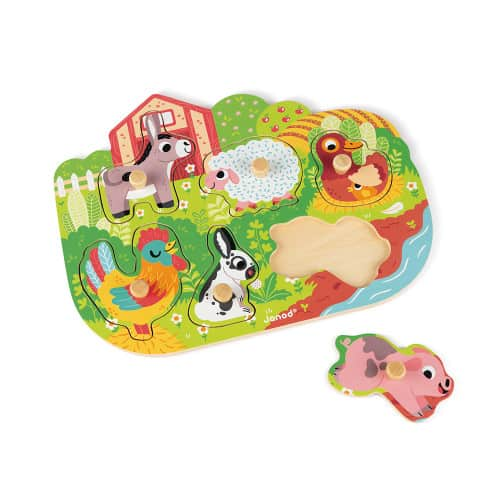 Jigsaws HAPPY FARM PUZZLE 6 PIECES (WOOD) Pitter Patter Baby NI 5