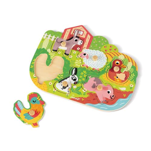 Jigsaws HAPPY FARM PUZZLE 6 PIECES (WOOD) Pitter Patter Baby NI 6