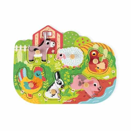 Jigsaws HAPPY FARM PUZZLE 6 PIECES (WOOD) Pitter Patter Baby NI 4