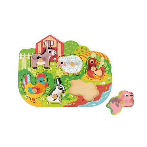 Jigsaws HAPPY FARM PUZZLE 6 PIECES (WOOD) Pitter Patter Baby NI 8