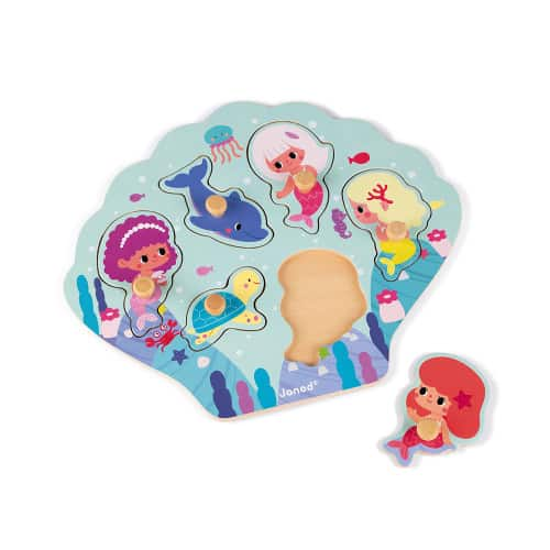 Jigsaws HAPPY MERMAIDS PUZZLE 6 PIECES (WOOD) Pitter Patter Baby NI 5