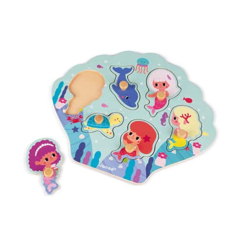 Jigsaws HAPPY MERMAIDS PUZZLE 6 PIECES (WOOD) Pitter Patter Baby NI 6