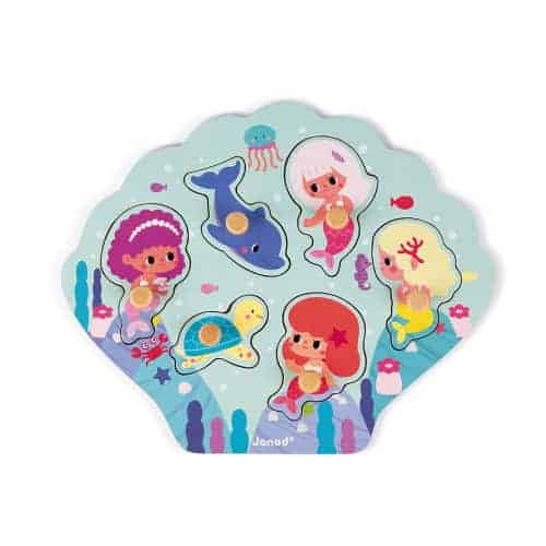 Jigsaws HAPPY MERMAIDS PUZZLE 6 PIECES (WOOD) Pitter Patter Baby NI 4