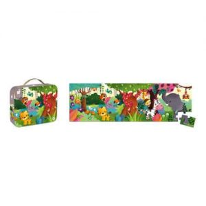 HAT BOXED PANORAMIC PUZZLE JUNGLE 36 PIECES