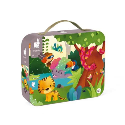 Jigsaws HAT BOXED PANORAMIC PUZZLE JUNGLE 36 PIECES Pitter Patter Baby NI 7