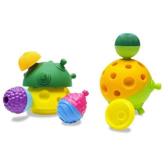 sensory toys Lalaboom Snap Beads 28pc Pitter Patter Baby NI 6
