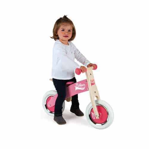 Ride On toys LITTLE BIKLOON MY FIRST BALANCE BIKE PINK (WOOD) Pitter Patter Baby NI 4