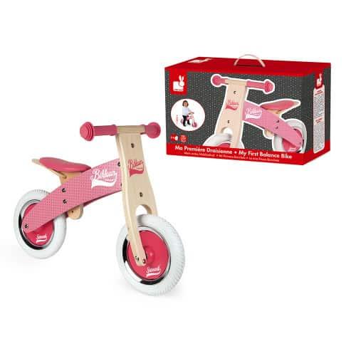 Ride On toys LITTLE BIKLOON MY FIRST BALANCE BIKE PINK (WOOD) Pitter Patter Baby NI 7