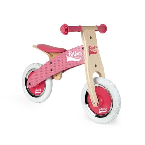 Ride On toys LITTLE BIKLOON MY FIRST BALANCE BIKE PINK (WOOD) Pitter Patter Baby NI 9