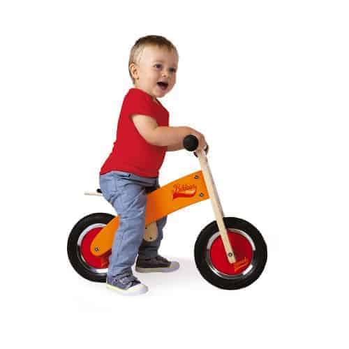 Ride On toys LITTLE BIKLOON MY FIRST ORANGE AND RED BALANCE BIKE (WOOD) Pitter Patter Baby NI 4