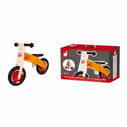 Ride On toys LITTLE BIKLOON MY FIRST ORANGE AND RED BALANCE BIKE (WOOD) Pitter Patter Baby NI 6