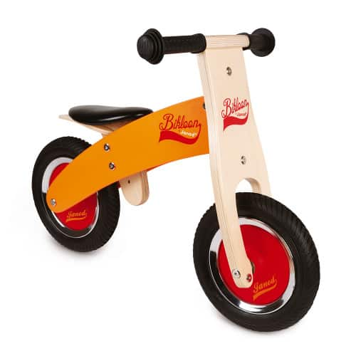 Ride On toys LITTLE BIKLOON MY FIRST ORANGE AND RED BALANCE BIKE (WOOD) Pitter Patter Baby NI 8