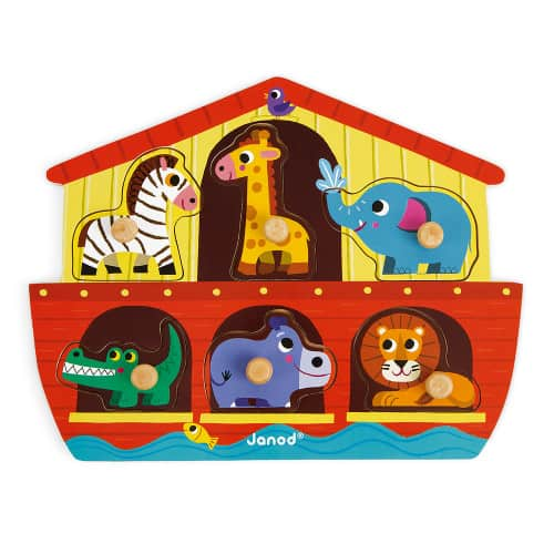Jigsaws NOAH'S ARK PUZZLE 6 PIECES (WOOD) Pitter Patter Baby NI 5