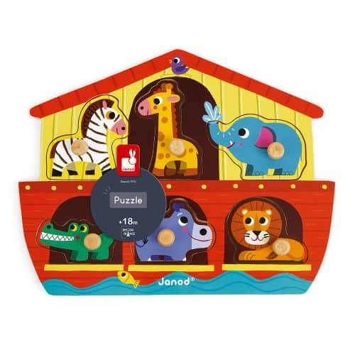Jigsaws NOAH'S ARK PUZZLE 6 PIECES (WOOD) Pitter Patter Baby NI 4