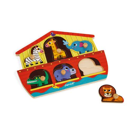 Jigsaws NOAH'S ARK PUZZLE 6 PIECES (WOOD) Pitter Patter Baby NI 7