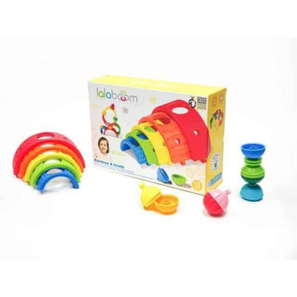 sensory toys Lalaboom Rainbow Arches Pitter Patter Baby NI 4