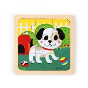 TITUS DOG PUZZLE 9 PIECES (WOOD)