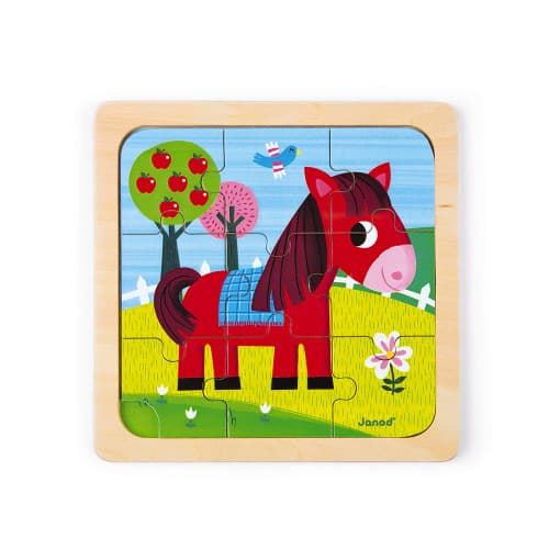 Jigsaws TORNADO HORSE PUZZLE 9 PIECES (WOOD) Pitter Patter Baby NI 5