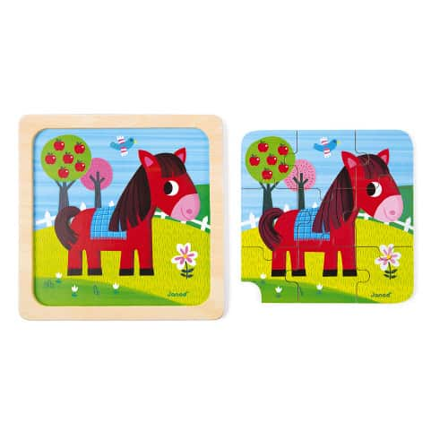 Jigsaws TORNADO HORSE PUZZLE 9 PIECES (WOOD) Pitter Patter Baby NI 6
