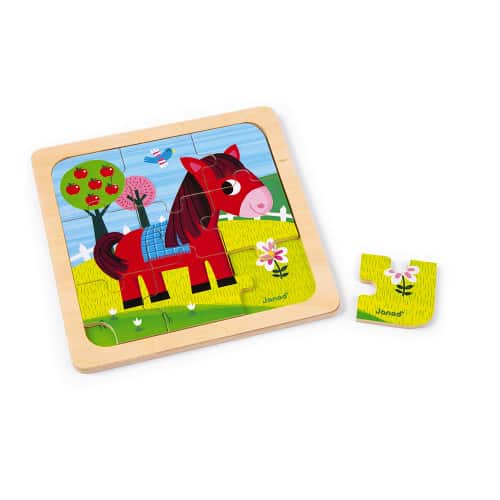 Jigsaws TORNADO HORSE PUZZLE 9 PIECES (WOOD) Pitter Patter Baby NI 4