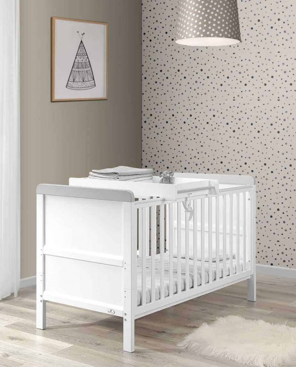 Cots, Cotbeds & travel cots Babylo Sophia Cotbed And Changer including mattress Pitter Patter Baby NI 4