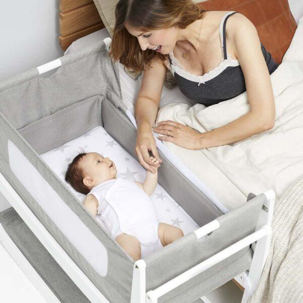 Cribs & Next2Me Cribs SnuzPod4 Bedside Crib Dusk Pitter Patter Baby NI 9