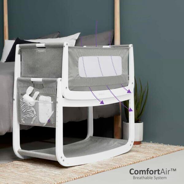 Cribs & Next2Me Cribs SnuzPod4 Bedside Crib Dusk Pitter Patter Baby NI 6