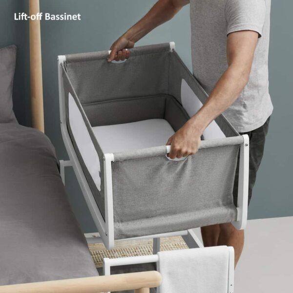 Cribs & Next2Me Cribs SnuzPod4 Bedside Crib Dusk Pitter Patter Baby NI 7