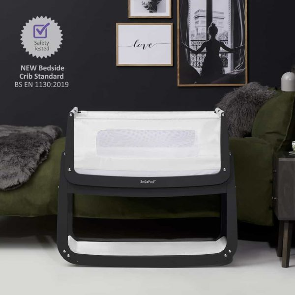 Cribs & Next2Me Cribs SnuzPod4 Bedside Crib Slate Pitter Patter Baby NI 5