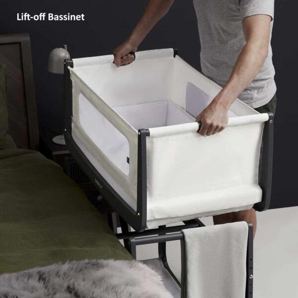 Cribs & Next2Me Cribs SnuzPod4 Bedside Crib Slate Pitter Patter Baby NI 10