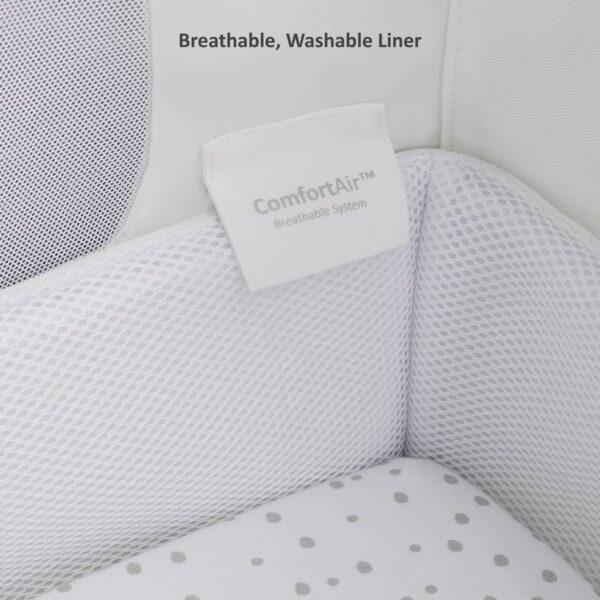 Cribs & Next2Me Cribs SnuzPod4 Bedside Crib Slate Pitter Patter Baby NI 11