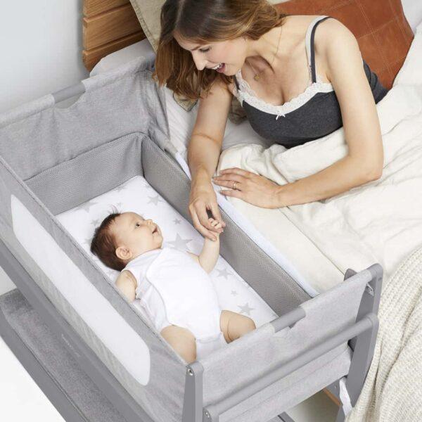 Cribs & Next2Me Cribs SnuzPod4 Bedside Crib Urban Pitter Patter Baby NI 7