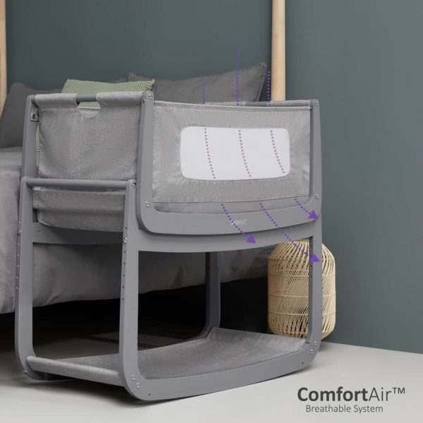 Cribs & Next2Me Cribs SnuzPod4 Bedside Crib Urban Pitter Patter Baby NI 6